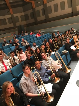 Some of the students at SoCal Trombone Day