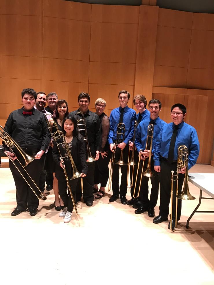 High School Trombone Quartets