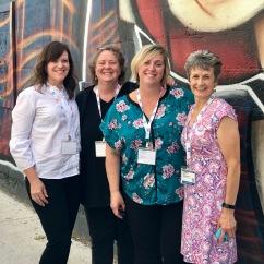 Love these ladies! L-R: Deb Scott, Abbie Conant, ME!, Jo Dee Davis