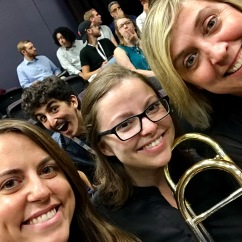 With Taylor Hughey and Julia Broom-Robinson, at the 2018 Composers Workshop